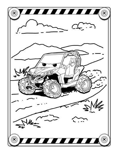 UTV Jumbo Coloring and Activity book for kids