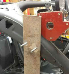 i got the length for the cross bar by mounting a piece of 3 16 plate on the a pillar on each side and measuring the distance [ 4656 x 2620 Pixel ]