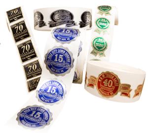 Anniversary Seals Labels