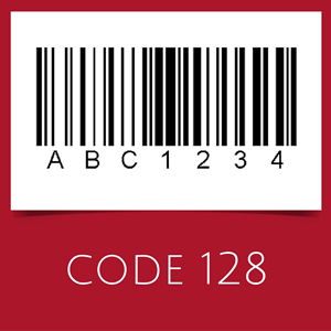Barcode with code 128 symbology