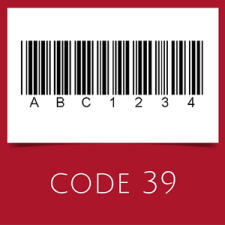 Barcode with code 39 symbology