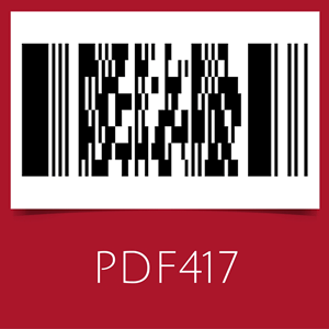 Barcode with PDF417 symbology