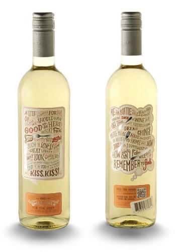 Small Talk creative wine labels