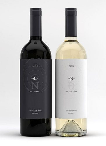Nocturnalis / Durinalis creative wine labels