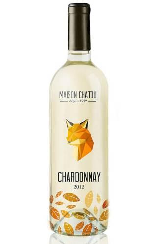 Maison Chatou creative wine label design