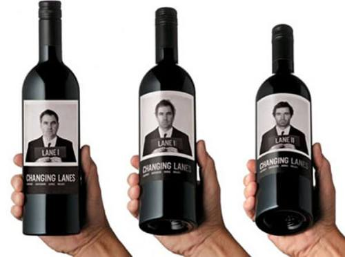 Changing Lanes creative wine labels