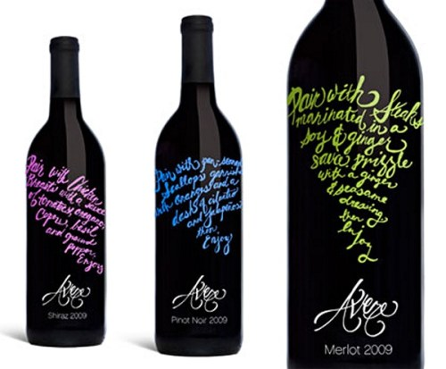 Avere Wines creative wine labels