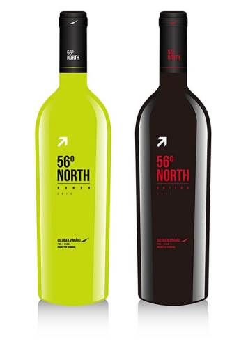 56 North creative wine labels