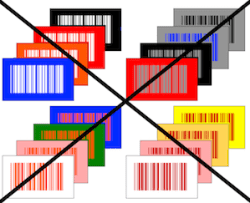 Bad barcode color combinations