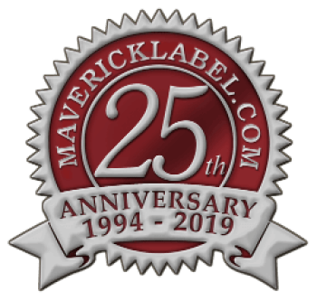 MaverickLabel 25th anniversary seal