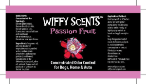 Wiffy Scents passion fruit label