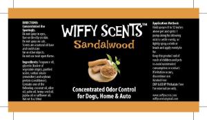 Wiffy Scents sandalwood label
