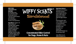 Wiffy Scents sandalwood label