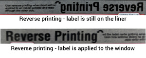 Print term - reverse print