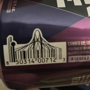 Dallas skyline in a barcode