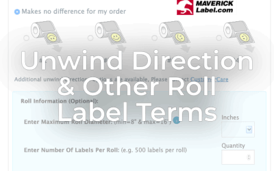 Unwind Direction & Other Roll Label Terms