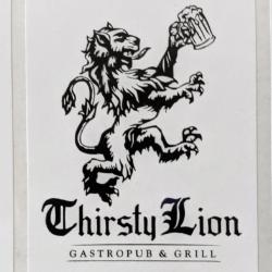 Thirsty Lion animal design label