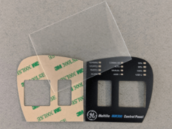 Lexan label before and after printing