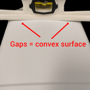 Convex shapes require special measuring