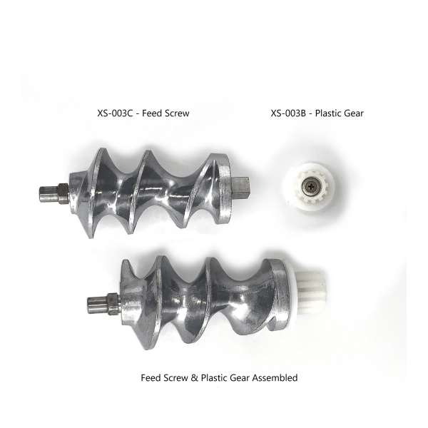 MM-5501 Meat Grinder Replacement Parts: Feed Screw, Plastic Gear