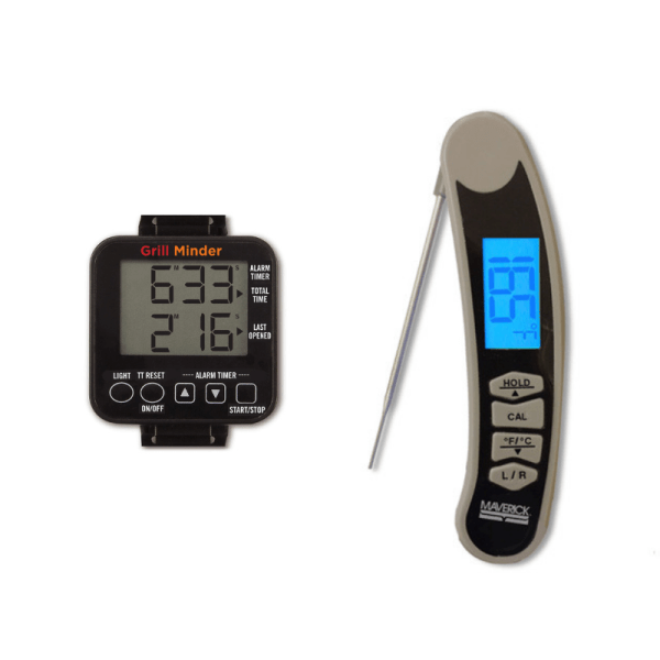 Grill timer and thermometer bundle