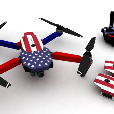 USA Flag for DJI Mavic Pro