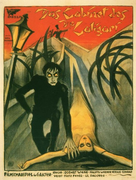 El gabinete del doctor Caligari- cartel de la película