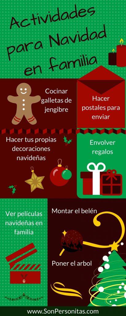 Infografía con ideas de actividades para Navidad