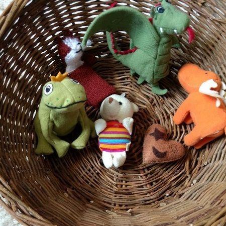 Marionetas para inventar cuentos.
