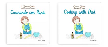 Cocinando con Papá y Cooking with dad, dos cuentos de inspiración Montessori