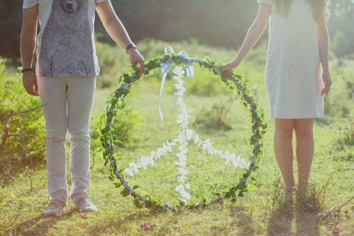 Símbolo de la paz para la resolución de conflictos.