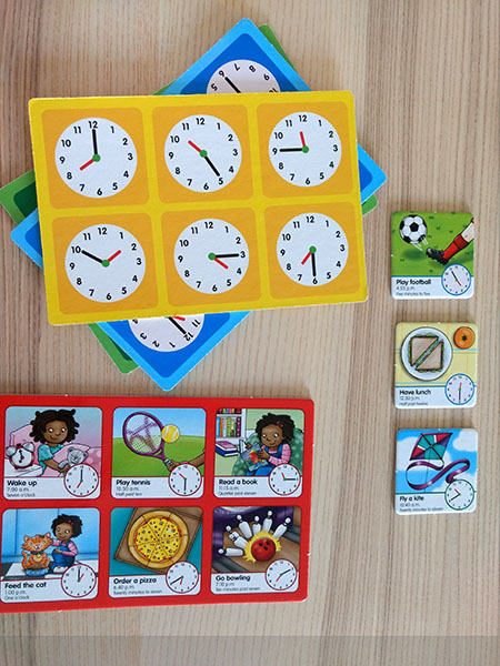 Juego de emsa educativo para aprender inglés, Tell the time.