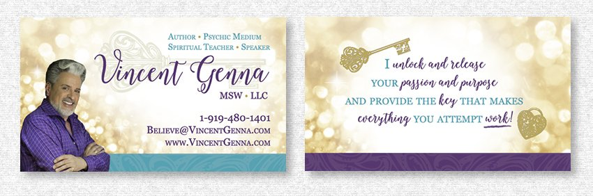 Business Card Design for Vincent Genna by MavroCreative LLC in Hingham MA
