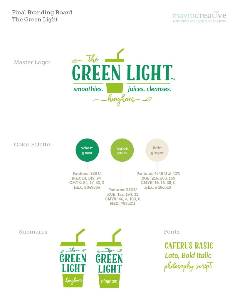 The Green Light Branding Board