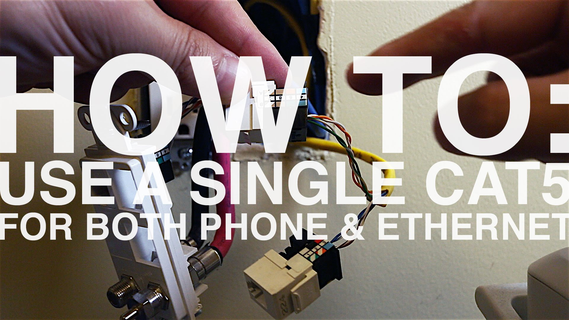 hight resolution of how to wire an ethernet and phone jack using a single cat5e cable mavromatic