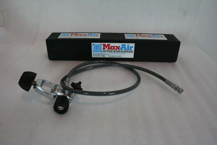Max-Air SCUBA Fill Yoke with Bleed Valve With 4' Hose FV-1003D