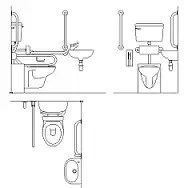 Toilet signs dwg block  maxcadcom