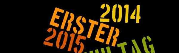 Erster Schultag 2014/2015