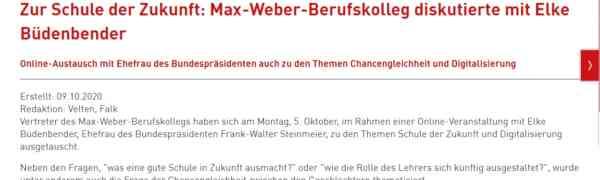 Digitale Zukunft am #MWBK - Das MWBK diskutiert mit Elke Büdenbender .....