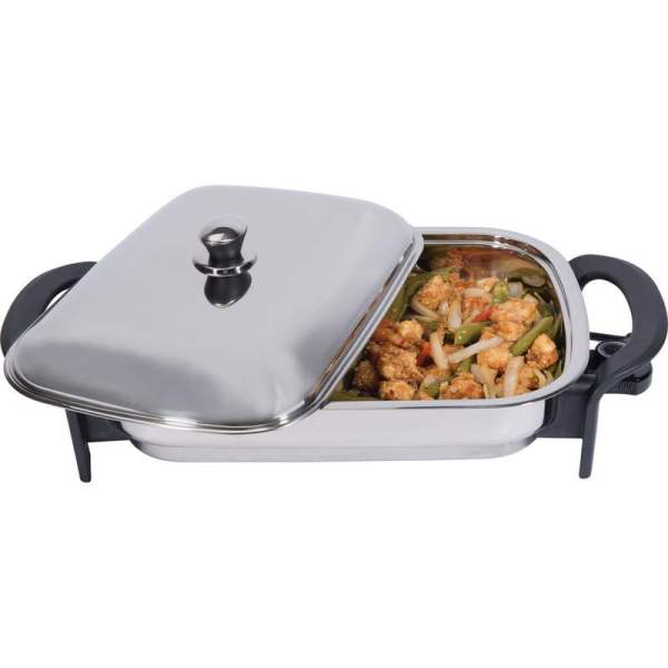 Precise Heat Electric Skillet T304 Stainless Steel 16