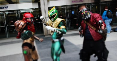 Samus - Metroid - Green Ranger - Power Rangers -Star Lords - Guardians of the Galaxy - Cosplay - Youmacon _ 2017