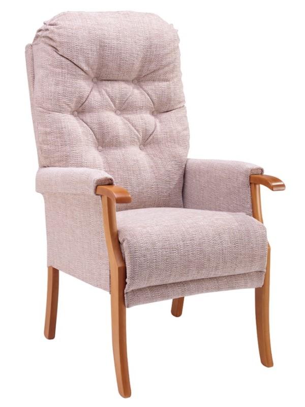 Day Chair - Avon - Kilburn - Oatmeal + Light Oak