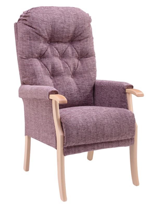 Day Chair - Avon - Kilburn - Plum + Light Oak