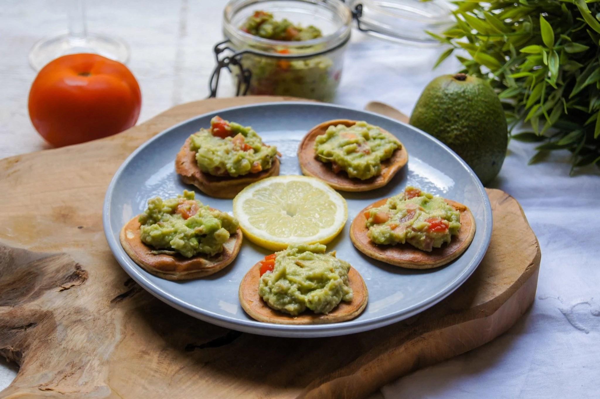Blinis guacamole