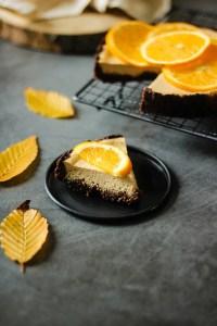 Part de cheescake à l'orange