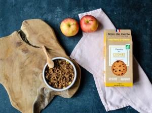 crumble pommes cookies aux pépites de chocolat