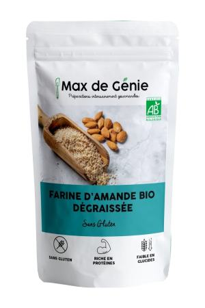 Farine d'amande bio dégraissée packaging