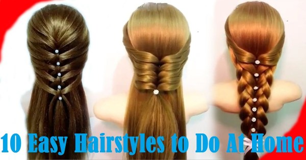 30 Cute Easy Hairstyles To Do At Home Hairstyles Ideas Walk The