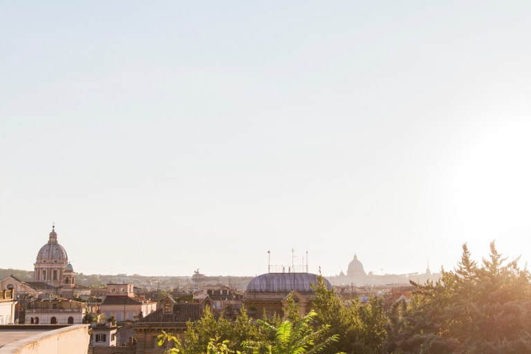 Sunset Over the Rooftops of Rome by Maxeen Kim Photography