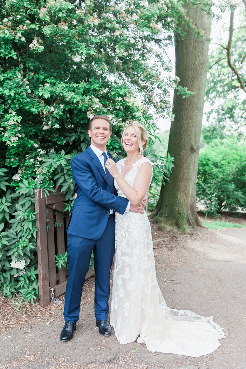 Happy Couple in the Garden at Belair House